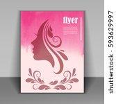 vector stylish banner  poster... | Shutterstock .eps vector #593629997