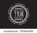 warranty 9 year icon vector | Shutterstock .eps vector #593644583