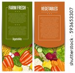 organic vegetable farming... | Shutterstock .eps vector #593653307