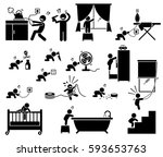 safety hazard at home for... | Shutterstock . vector #593653763