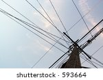wired sky   power | Shutterstock . vector #593664