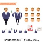 funny office man cartoon.... | Shutterstock .eps vector #593676017