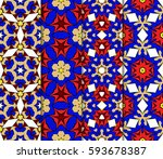 set of decorative geometric...