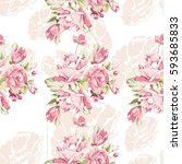 seamless pattern with pink... | Shutterstock .eps vector #593685833