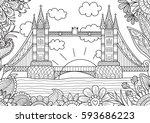 spring in london zendoodle... | Shutterstock .eps vector #593686223