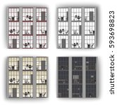 windows  pattern  office windows | Shutterstock .eps vector #593698823
