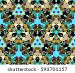 kaleidoscope seamless pattern.... | Shutterstock .eps vector #593701157