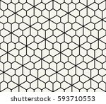 abstract geometric pentagon... | Shutterstock .eps vector #593710553