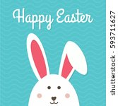 happy easter typographical... | Shutterstock .eps vector #593711627