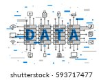 data center network technology... | Shutterstock .eps vector #593717477