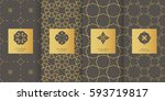 collection of grey backgrounds... | Shutterstock .eps vector #593719817