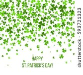 saint patrick's day border with ... | Shutterstock .eps vector #593721323