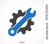 service tools vector icon. | Shutterstock .eps vector #593725493