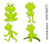 Frogs Cartoon Set 2