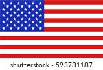 flag of the united states of... | Shutterstock .eps vector #593731187