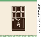 chocolate vector icon. | Shutterstock .eps vector #593734733