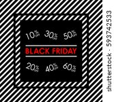 black friday sale banner. 10 20 ... | Shutterstock . vector #593742533