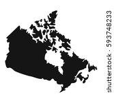 canada map icon. simple... | Shutterstock . vector #593748233