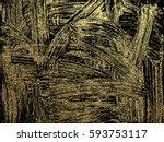 gold grunge texture to create... | Shutterstock .eps vector #593753117
