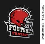 american football modern logo....   Shutterstock .eps vector #593760857