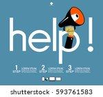 helpful icon. service concept... | Shutterstock .eps vector #593761583