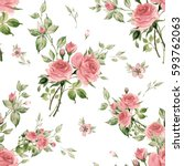 seamless watercolor pattern... | Shutterstock . vector #593762063