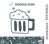 beer doodle drawing | Shutterstock .eps vector #593765813