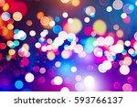 glittering shine bulbs lights... | Shutterstock . vector #593766137