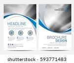 brochure or flyer design... | Shutterstock .eps vector #593771483