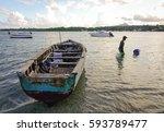 grand baie  mauritius   jan 11  ... | Shutterstock . vector #593789477