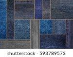 blue denim jeans texture ... | Shutterstock . vector #593789573