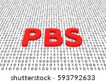 pbs in the form of binary code  ... | Shutterstock . vector #593792633