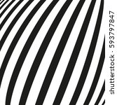 black and white striped lines.... | Shutterstock .eps vector #593797847