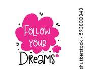 vector poster with phrase decor ... | Shutterstock .eps vector #593800343