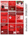 restaurant colored advertising... | Shutterstock .eps vector #593815037
