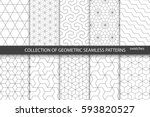 Collection of seamless ornamental patterns. | Shutterstock vector #593820527