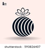 icon of a gift | Shutterstock .eps vector #593826407