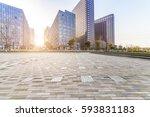 empty floor with modern... | Shutterstock . vector #593831183