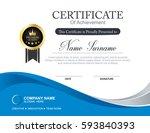 vector certificate template | Shutterstock .eps vector #593840393