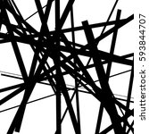 random chaotic lines abstract... | Shutterstock .eps vector #593844707