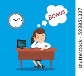 businesswoman sleeping and... | Shutterstock .eps vector #593851337