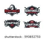 modern professional logo set ... | Shutterstock .eps vector #593852753