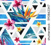 Abstract Summer Geometric...