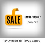 abstract sale poster with... | Shutterstock .eps vector #593862893