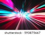 lighting speed effect background | Shutterstock . vector #593875667