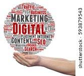concept or conceptual digital... | Shutterstock . vector #593879543