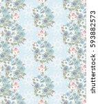 vintage feedsack pattern in...   Shutterstock . vector #593882573