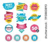 sale banners  online web... | Shutterstock .eps vector #593883893