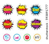 comic wow  oops  boom and wham...   Shutterstock .eps vector #593891777