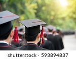 back of graduates during... | Shutterstock . vector #593894837